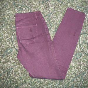 Dex lavender skinny jeans